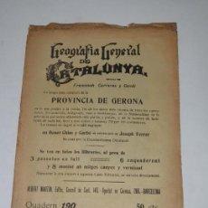 Libros antiguos: GEOGRAFIA GENERAL DE CATALUNYA- PROVINCIA GERONA- FRANCESCH CARRERA I CANDI. Lote 169733900