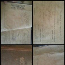Libros antiguos: CUADERNO DE MAQUINAS BUQUE A MOTOR DARRO Y TURIA APUNTES ANOTACIONES TRAVESIAS 1947 1948. Lote 171502229