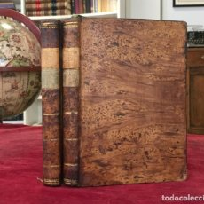 Libros antiguos: HISTORIA DE LA VIDA Y VIAGES DEL CAPITAN JAIME COOK 2 TOMOS OBRA COMPLETA. MADRID 1795. 1ª EDICIÓN. Lote 172008298