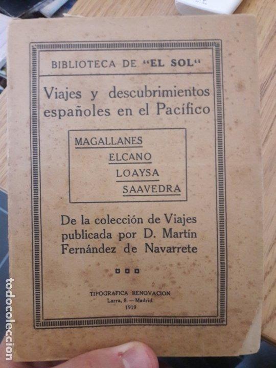Libros antiguos: Viajes y descubrimientos españoles en el Pacífico, FERNÁNDEZ DE NAVARRETE, 1919 - Foto 2 - 173001785
