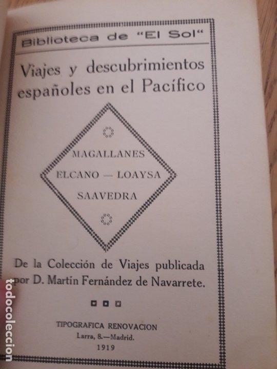 VIAJES Y DESCUBRIMIENTOS ESPAÑOLES EN EL PACÍFICO, FERNÁNDEZ DE NAVARRETE, 1919 (Libros Antiguos, Raros y Curiosos - Geografía y Viajes)