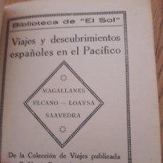 Libros antiguos: VIAJES Y DESCUBRIMIENTOS ESPAÑOLES EN EL PACÍFICO, FERNÁNDEZ DE NAVARRETE, 1919. Lote 173001785