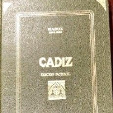 Livres anciens: CADIZ DE PASCUAL MADOZ. 1988. FACSIMIL. EDI ANDALUZAS UNIDAS.. Lote 173252875