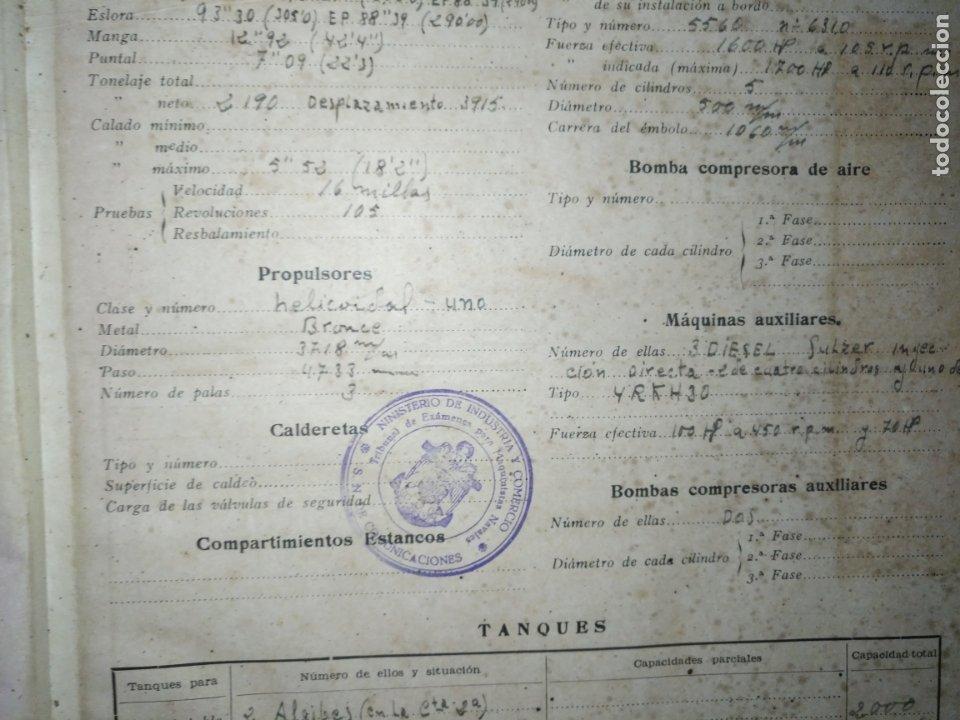 Libros antiguos: cuaderno de maquinas buque a motor darro y turia apuntes anotaciones travesias 1947 1948 - Foto 4 - 171502229