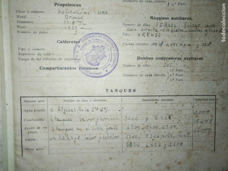 Libros antiguos: cuaderno de maquinas buque a motor darro y turia apuntes anotaciones travesias 1947 1948 - Foto 5 - 171502229