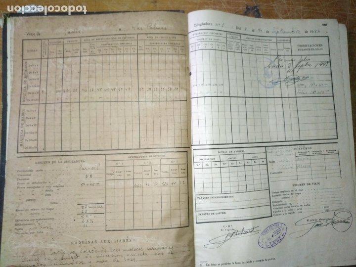Libros antiguos: cuaderno de maquinas buque a motor darro y turia apuntes anotaciones travesias 1947 1948 - Foto 6 - 171502229