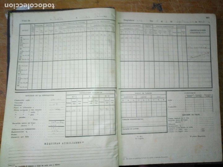 Libros antiguos: cuaderno de maquinas buque a motor darro y turia apuntes anotaciones travesias 1947 1948 - Foto 7 - 171502229