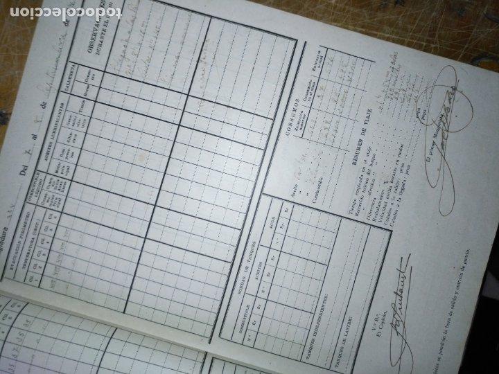 Libros antiguos: cuaderno de maquinas buque a motor darro y turia apuntes anotaciones travesias 1947 1948 - Foto 8 - 171502229