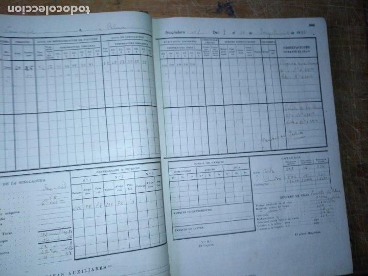 Libros antiguos: cuaderno de maquinas buque a motor darro y turia apuntes anotaciones travesias 1947 1948 - Foto 10 - 171502229