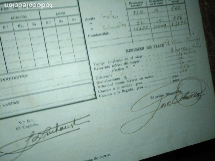Libros antiguos: cuaderno de maquinas buque a motor darro y turia apuntes anotaciones travesias 1947 1948 - Foto 11 - 171502229