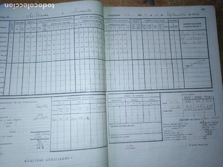 Libros antiguos: cuaderno de maquinas buque a motor darro y turia apuntes anotaciones travesias 1947 1948 - Foto 12 - 171502229