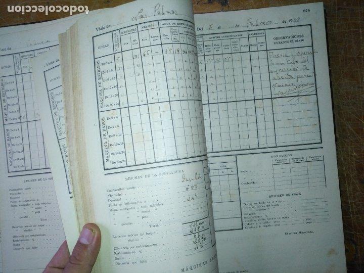 Libros antiguos: cuaderno de maquinas buque a motor darro y turia apuntes anotaciones travesias 1947 1948 - Foto 13 - 171502229