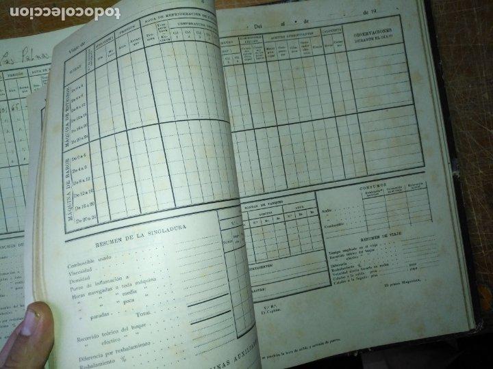 Libros antiguos: cuaderno de maquinas buque a motor darro y turia apuntes anotaciones travesias 1947 1948 - Foto 14 - 171502229