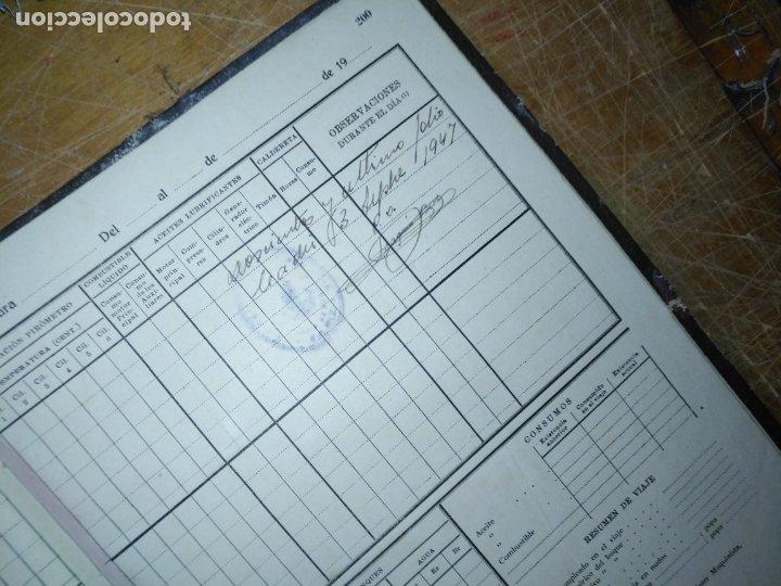 Libros antiguos: cuaderno de maquinas buque a motor darro y turia apuntes anotaciones travesias 1947 1948 - Foto 15 - 171502229