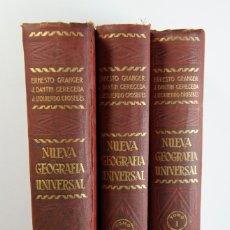Libros antiguos: NUEVA GEOGRAFÍA UNIVERSAL, ESPASA CALPE, 3 TOMOS, COMPLETA, MADRID, 1929. Lote 174090829
