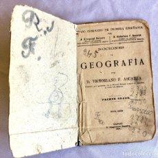 Libros antiguos: LIBRO NOCIONES DE GEOGRAFIA PARA RESTAURAR DE 1904. Lote 174391724