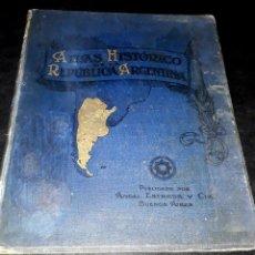 Libros antiguos: ATLAS HISTÓRICO DE ARGENTINA BIEDMA GRAN FORMATO AÑO 1900 MAPAS PLANOS. Lote 175297315
