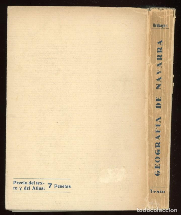 Libros antiguos: Geografía de Navarra. Texto explicativo del Atlas Geográfico, Leoncio Urabayen. Pamplona 1931 - Foto 2 - 175477048