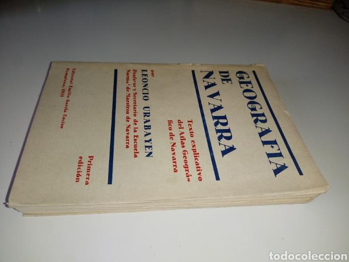 Libros antiguos: Geografía de Navarra. Texto explicativo del Atlas Geográfico, Leoncio Urabayen. Pamplona 1931 - Foto 4 - 175477048