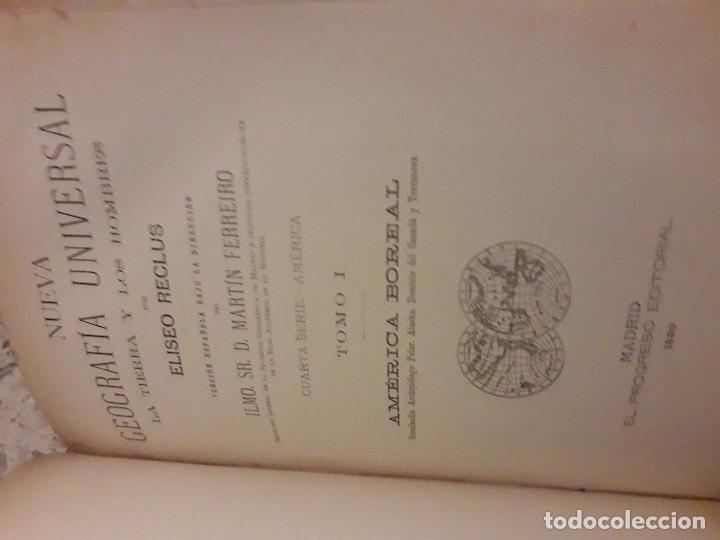 Libros antiguos: 1888 Piel Nueva Geografia Universal 6 tomos RECLUS mapas Color grabados - Foto 4 - 175937217