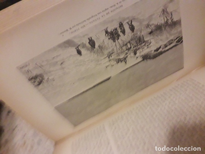 Libros antiguos: 1888 Piel Nueva Geografia Universal 6 tomos RECLUS mapas Color grabados - Foto 6 - 175937217