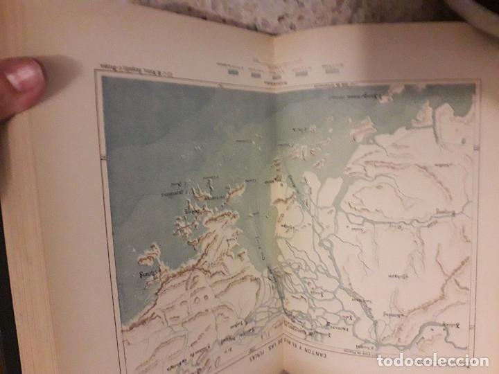 Libros antiguos: 1888 Piel Nueva Geografia Universal 6 tomos RECLUS mapas Color grabados - Foto 7 - 175937217