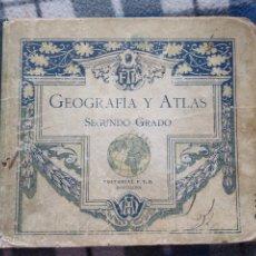 Libros antiguos: GEOGRAFÍA Y ATLAS,SEGUNDO GRADO - AÑO 1927(535). Lote 175976758