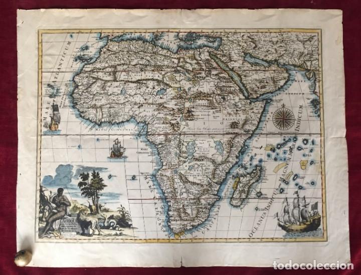OFERTA HASTA 5/03/2021 MAPA CALCOGRÁFICO ÁFRICA SIGLO XVIII ILUMINADO A MANO. PIERRE VANDER AA (Libros Antiguos, Raros y Curiosos - Geografía y Viajes)