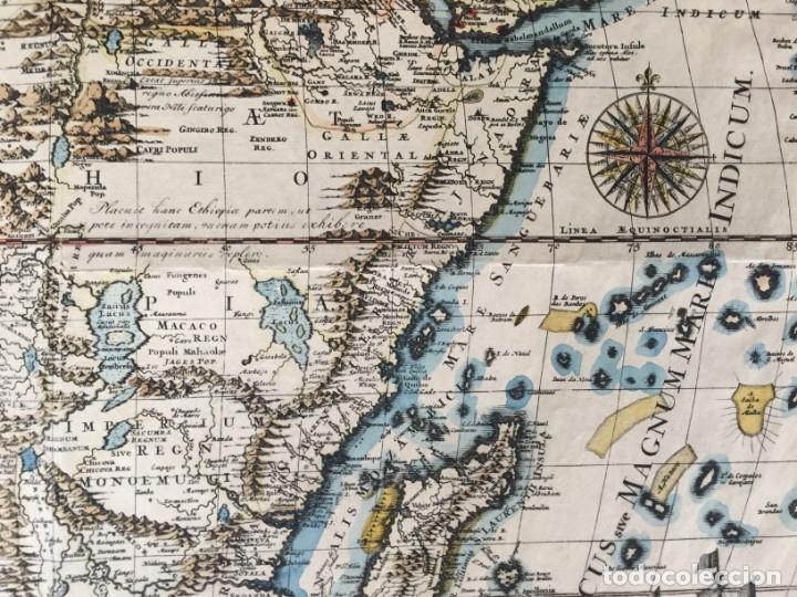 Libros antiguos: MAPA CALCOGRÁFICO ÁFRICA Siglo XVIII Iluminado A Mano. Pierre Vander Aa - Foto 6 - 176013972