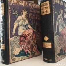 Libros antiguos: EUGENIO CARRE ALDAO GEOGRAFÍA GENERAL DEL REINO DE GALICIA A CORUÑA DOS TOMOS, CARRERAS CANDI. Lote 176209883