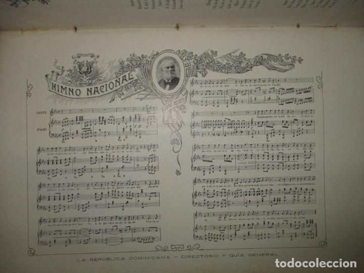 Libros antiguos: LA REPÚBLICA DOMINICANA. DIRECTORIO Y GUÍA GENERAL. DESCHAMPS, Enrique. c. 1907. - Foto 6 - 268298354