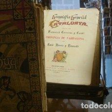 Libros antiguos: GEOGRAFIA GENERAL DE CATALUNYA, DIRIGIDA PER FRANCESCH CARRERAS Y CANDI.3 TOMOS. Lote 176735872