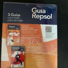 Libros antiguos: GUIA REPSOL 2012 / 3 GUIAS ( CARRETERAS DE ESPAÑA Y PORTUGAL,MEJORES RESTAURANTES, MEJORES SABORES. Lote 176785035