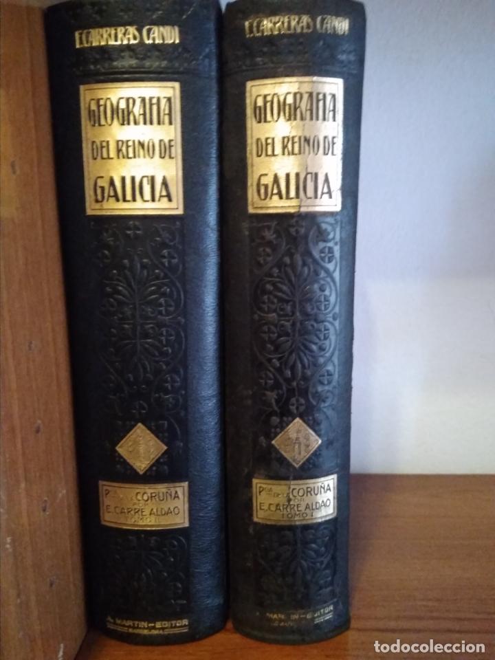 Libros antiguos: GEOGRAFIA GENERAL REINO DE GALICIA 2 TOMOS CORUÑA AÑO 1928 - Foto 3 - 176924769