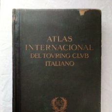 Libros antiguos: 1935 - ATLAS INTERNACIONAL DEL TOURING CLUB ITALIANO - MONTANER Y SIMÓN 50 X 33 CM. . Lote 176985625