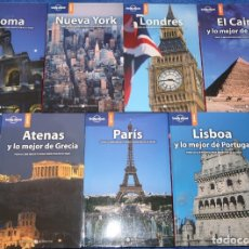 Libros antiguos: ROMA - PARIS - LONDRES - NUEVA YORK - EL CAIRO - ATENAS - LISBOA - LONELY PLANET (2005). Lote 168318044