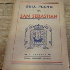 Libros antiguos: GUÍA-PLANO DE SAN SEBASTIÁN - NO CONSTA AUTOR. Lote 178943998