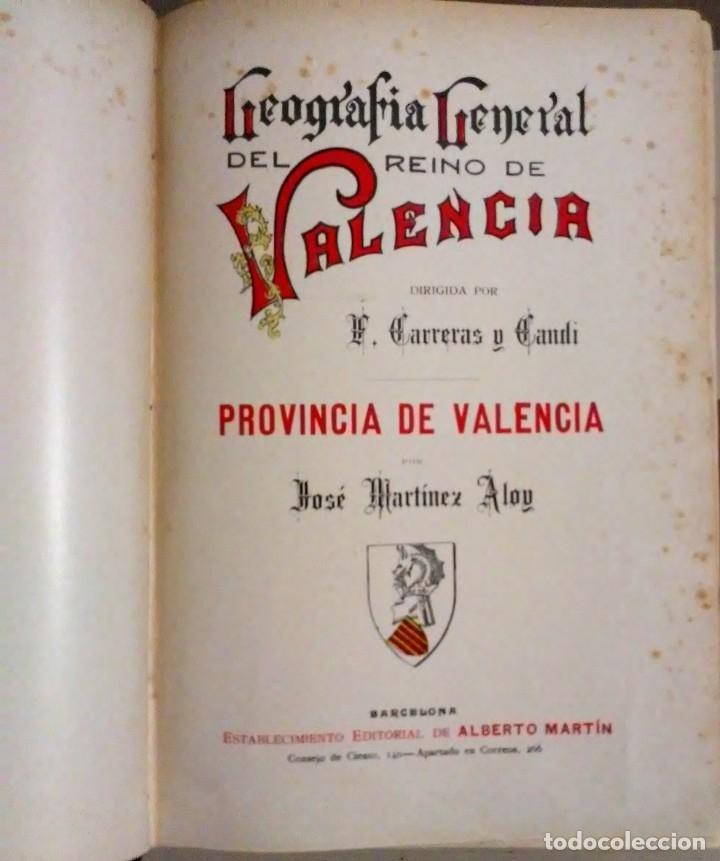 Libros antiguos: Geografia general reino Valencia provincia Castellón y provincia Valencia tomo I Carreres Candi 1924 - Foto 8 - 178981797