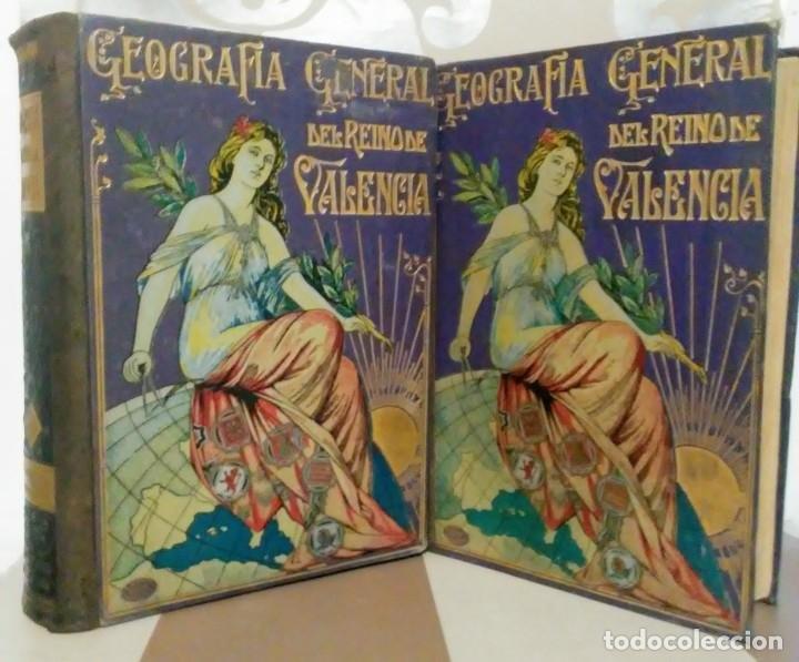GEOGRAFIA GENERAL REINO VALENCIA PROVINCIA CASTELLÓN Y PROVINCIA VALENCIA TOMO I CARRERES CANDI 1924 (Libros Antiguos, Raros y Curiosos - Geografía y Viajes)