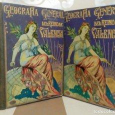 Libros antiguos: GEOGRAFIA GENERAL REINO VALENCIA PROVINCIA CASTELLÓN Y PROVINCIA VALENCIA TOMO I CARRERES CANDI 1924. Lote 178981797
