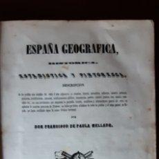 Libros antiguos: MELLADO. ESPAÑA GEOGRÁFICA, HISTÓRICA, ESTADÍSTICA Y PINTORESCA POR F. DE PAULA MELLADO. MADRID 1845. Lote 180152268