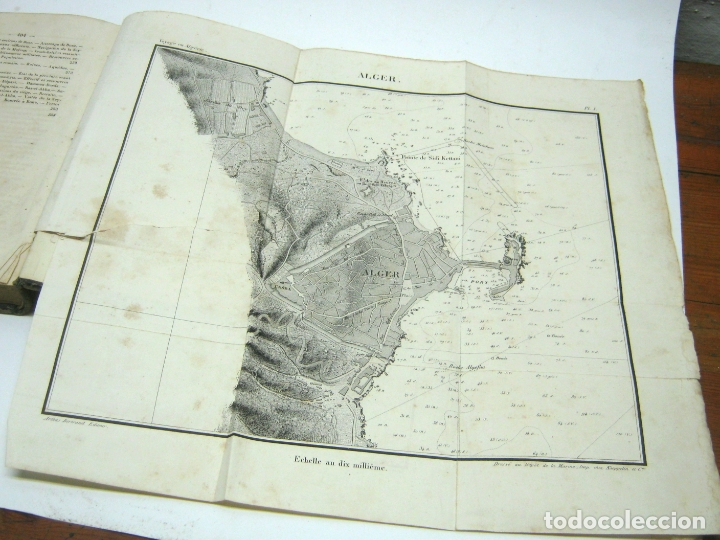 Libros antiguos: 1841 - LAlgerie par Baron Baude 1ª edicion - Argelia T.I - 3 mapas - Foto 3 - 180274721