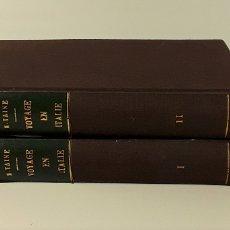 Libros antiguos: VOYAGE EN ITALIE. TOMOS I Y II. H. TAINE. LIBR. HACHETTE. PARÍS. 1921.. Lote 180452827
