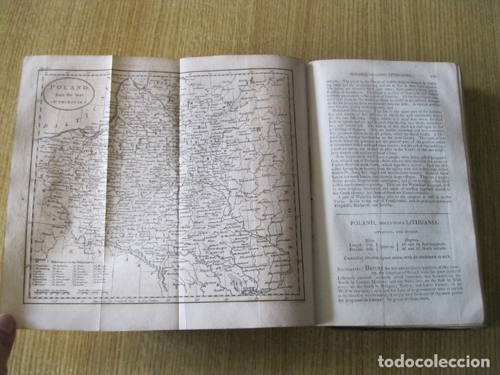 Libros antiguos: Gramática geográfica de Guthrie, 1800. W. Guthrie. Con mapas - Foto 15 - 181359748
