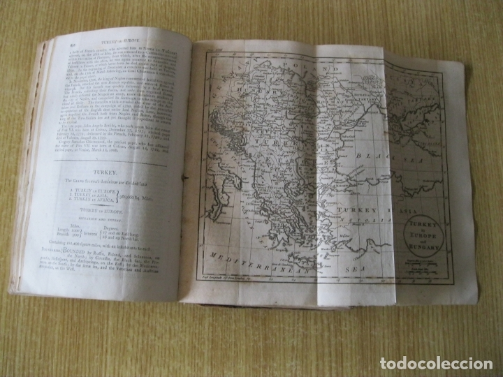 Libros antiguos: Gramática geográfica de Guthrie, 1800. W. Guthrie. Con mapas - Foto 19 - 181359748