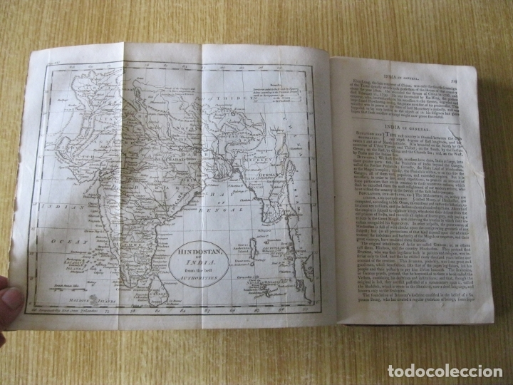 Libros antiguos: Gramática geográfica de Guthrie, 1800. W. Guthrie. Con mapas - Foto 21 - 181359748