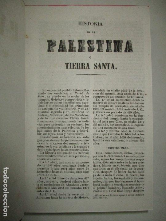 Libros antiguos: PANORAMA UNIVERSAL. HISTORIA DE LA PALESTINA O TIERRA SANTA. 1842. (3 OBRAS EN 1 VOL). - Foto 5 - 181403847
