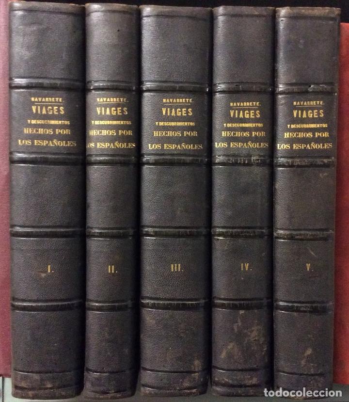 MARTIN FERNÁNDEZ DE NAVARRETE COLECCION DE LOS VIAGES Y DESCUBRIMIENTOS -MADRID 1825 (Libros Antiguos, Raros y Curiosos - Geografía y Viajes)