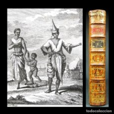 Libros antiguos: AÑO 1780 PRIMERA EDICIÓN HISTORIA DE LOS VIAJES COSTUMBRES DE TAILANDIA Y VIETNAM 2 GRABADOS RARO. Lote 181464961
