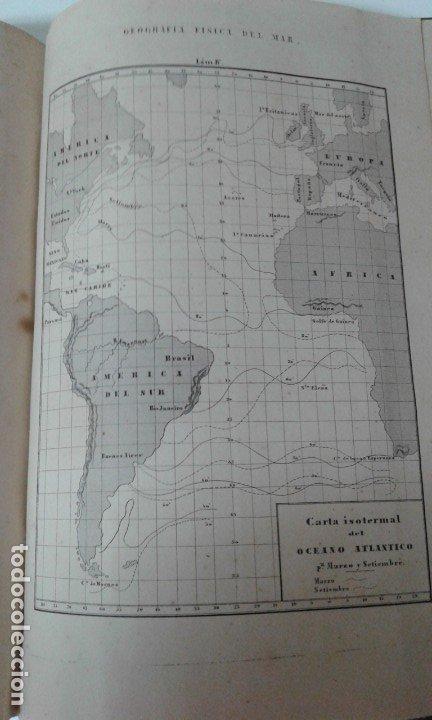 Libros antiguos: GEOGRAFIA DEL MAR MAURY ILUSTRADA CON MAPAS CORRIENTES HURACANES AÑO 1860 - Foto 7 - 181613560